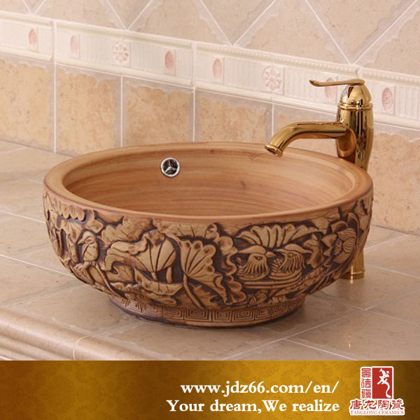 Hot sale bathroom sanitary ware hand external concrete wash basin