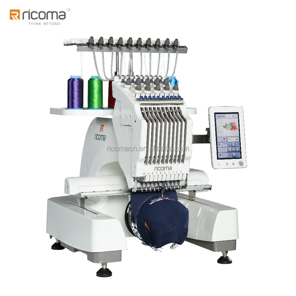 RiCOMA 10 Needle Single Head Computer Embroidery Machine