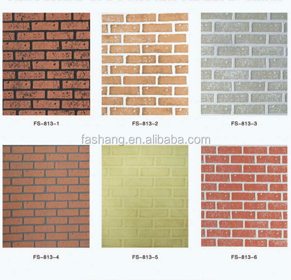 Big size 11202240mm fs 813 4x8 fire resistant brick wall for What kind of paint to use on kitchen cabinets for wall art 3d panels