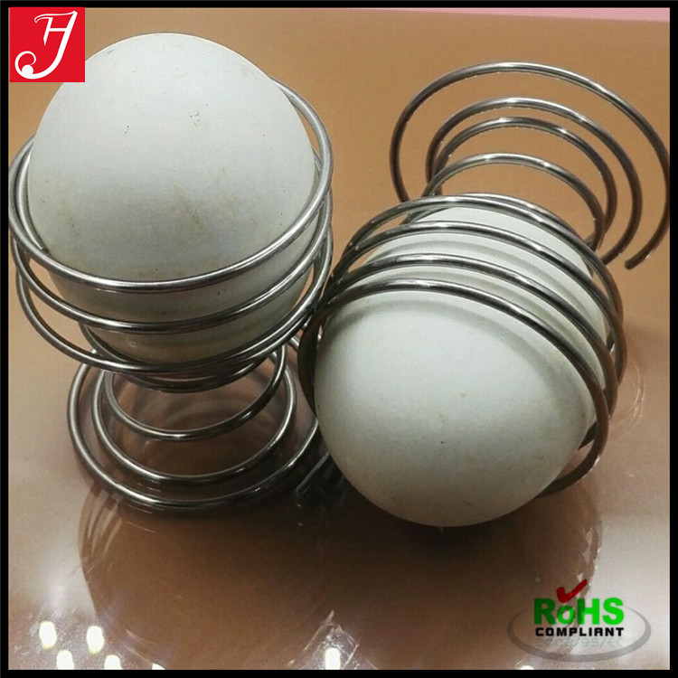 Custom nickel plated steel compression load cup shape coil decorate egg spring