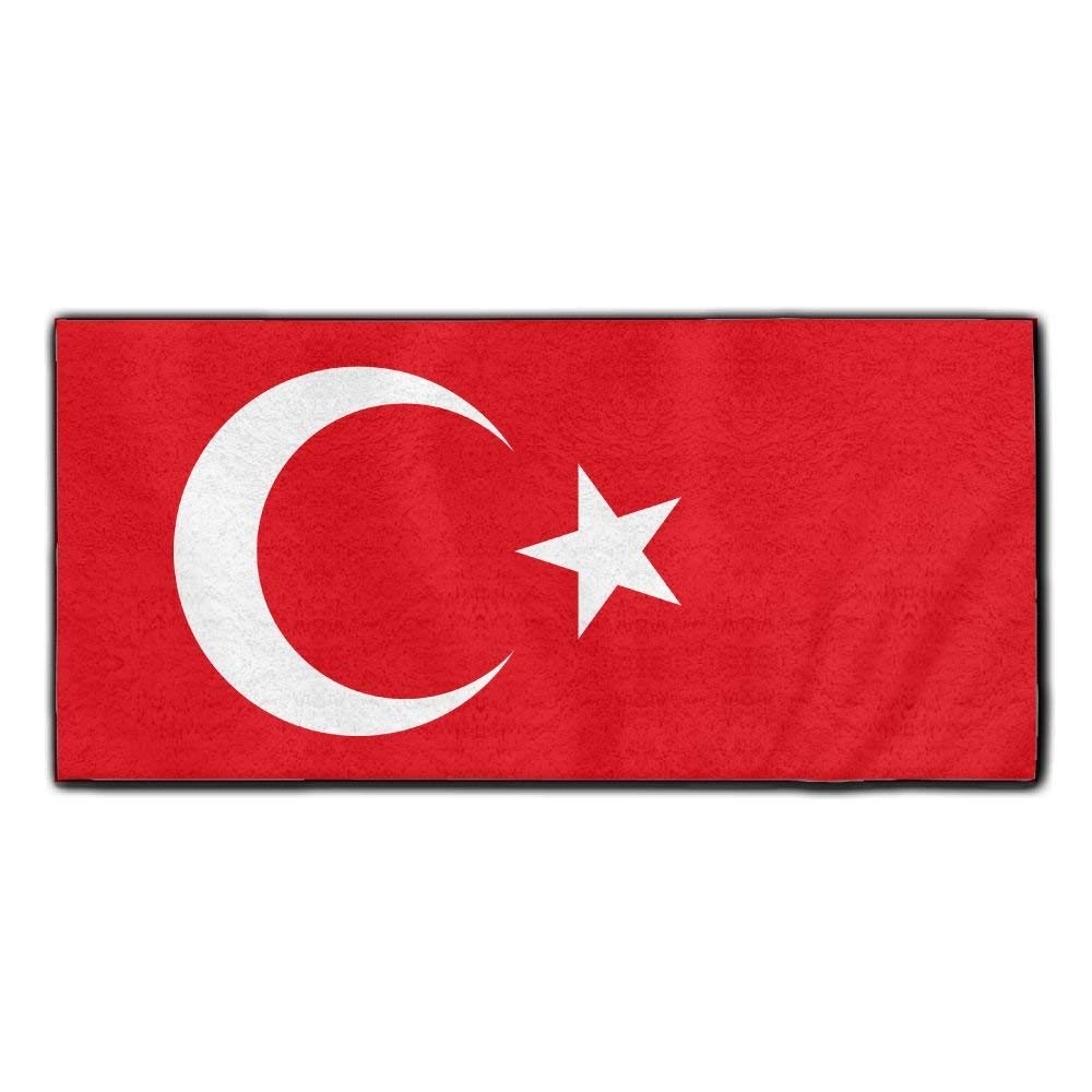 ChunLei Turkey Flag Washcloths Face Towel Hair Care Towel Gym And Spa Towel Kitchen Dish Towel