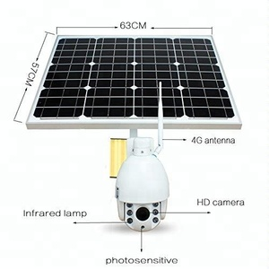 3g 4g Sim Card IP Camera Speed Dome 2MP CCTV Wifi Wireless PTZ IP Solar Powered Camera with IR night vision