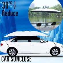 SUNCLOSE Factory foldable car garage for mpv vehicle windshield sun visors for cars chocoolate & joe cool manual open umbrella