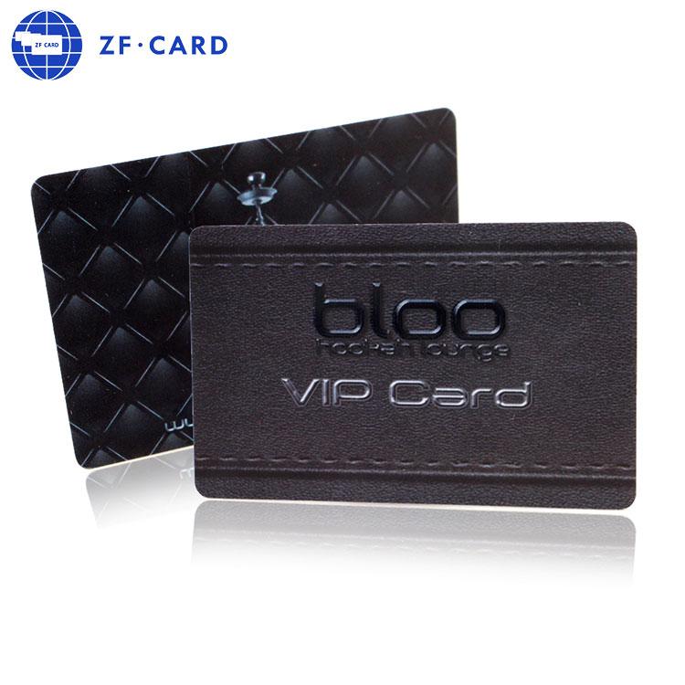 Alta qualidade por atacado personalizado barato vip preto cartão de visita