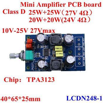 25w+25w Class D Mini Amplifier Circuit Board/module Tpa3123 10-25v ...