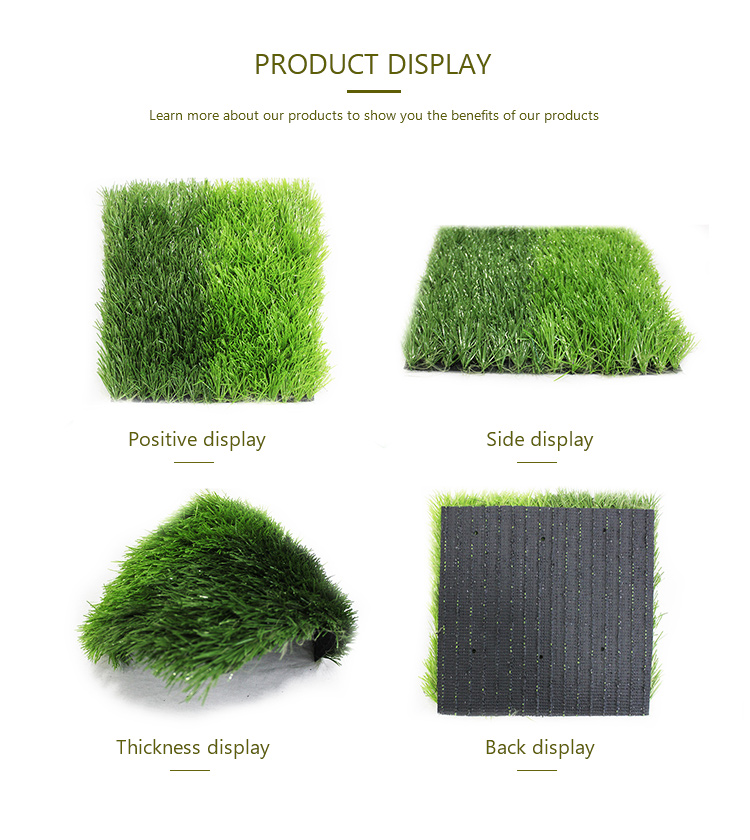 Cheap chinese wall carpet landscape mat football turf artificial grass