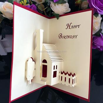 Fairy Kids Handmade 3d Pop Up Birthday Greeting Cards Buy Happy