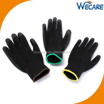 4131 Multi Purpose Hand Protection Nylon Knitted Black PU Work Gloves