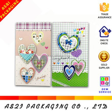 customise 3d heart shape lover's day romantic greeting card