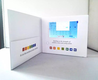 Customized digital lcd video screen greeting cards 7inch 10 inch video brochure pocket Folder for extra flyer