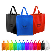 Cheap custom printed recyclable fabric non woven carry bag with logo