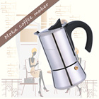 6 cup stainless steel TIAMO moka pot /italian coffee maker