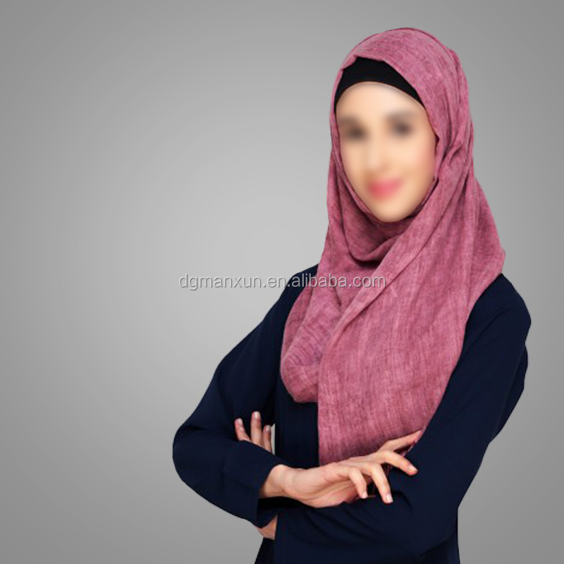 Hotsale Islamic Clothing Classical Design Muslim Everyday Wine Hijab Turkish Style Scarves Modest Niqab