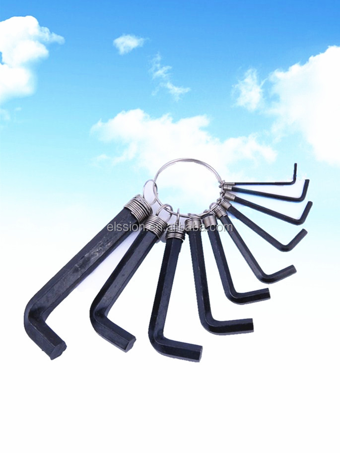 10 pcs hex key wrench set with key chain / Promotion hex key wrench