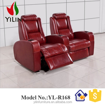 Decoro Leather Sofa Recliner Cinema Electric Seat With Cooling Cup Holder