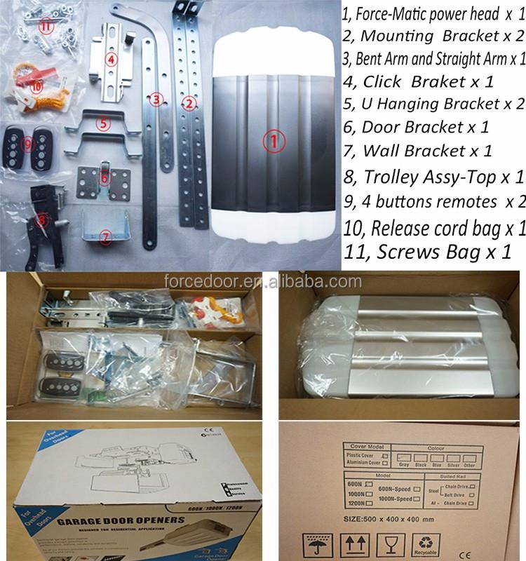 Tuv Certification Automatic Sectional Garage Door Opener Using 24v