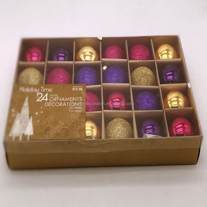 20mm holiday living time glitter frosted glass christmas ornaments