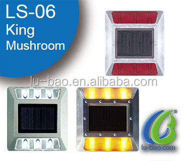 Made in LuBao white,red,yellow waterproof reflective led solar road stud
