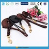 Genuine Leather Dog Long Leash Braided Leather dog lead leash leather Black and Brown