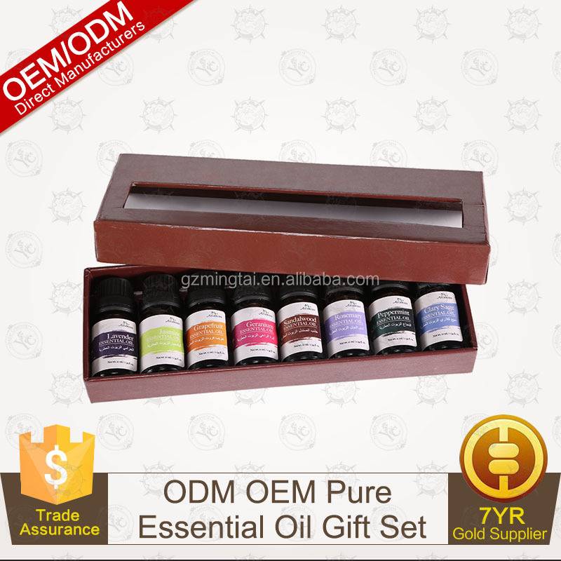 OEM/ODM Supply Essential oil Aromatherapy Gift Set 8/10ml-100% Pure Therapeutic Grade
