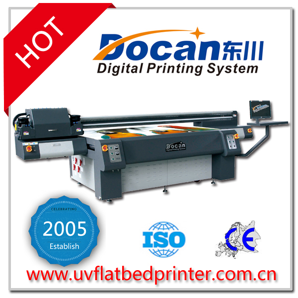 2.5m*1.2m Docan decor photography digital flatbed printer/uv printer