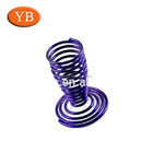 wire forming coil springs with goblet shape; purple color coil spring