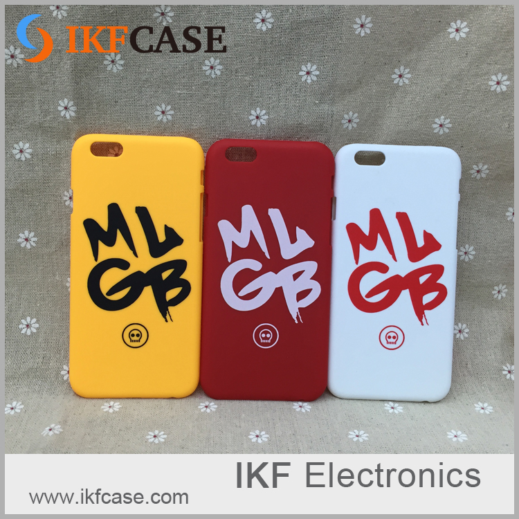 Customized Printed Personalized Letters Hard Plastic Cell Phone Case Cover For iPhone 6S Plus