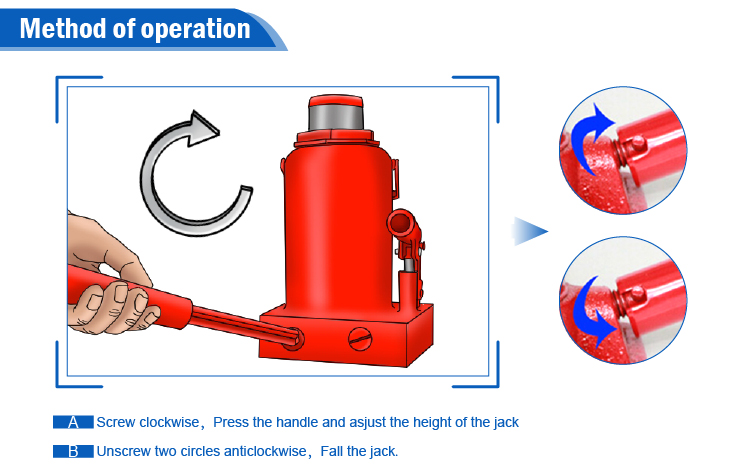 Car lifting manual operated screw hydraulic jack 30 ton for buyer