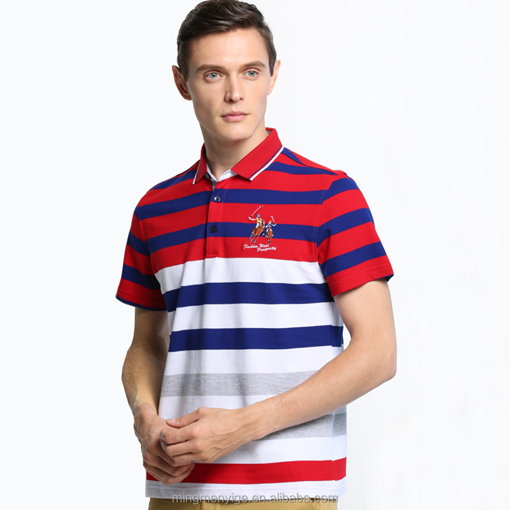 Bán buôn Summer 100% Cotton Mens Polo Golf T Shirt