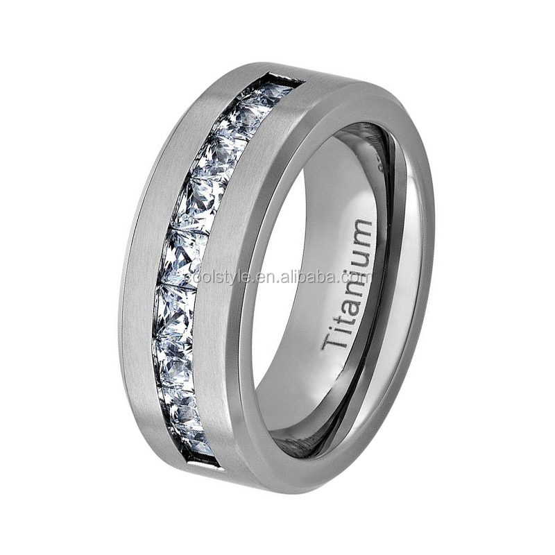 Bridal jewellery sets pure titanium diamond wedding ring for women