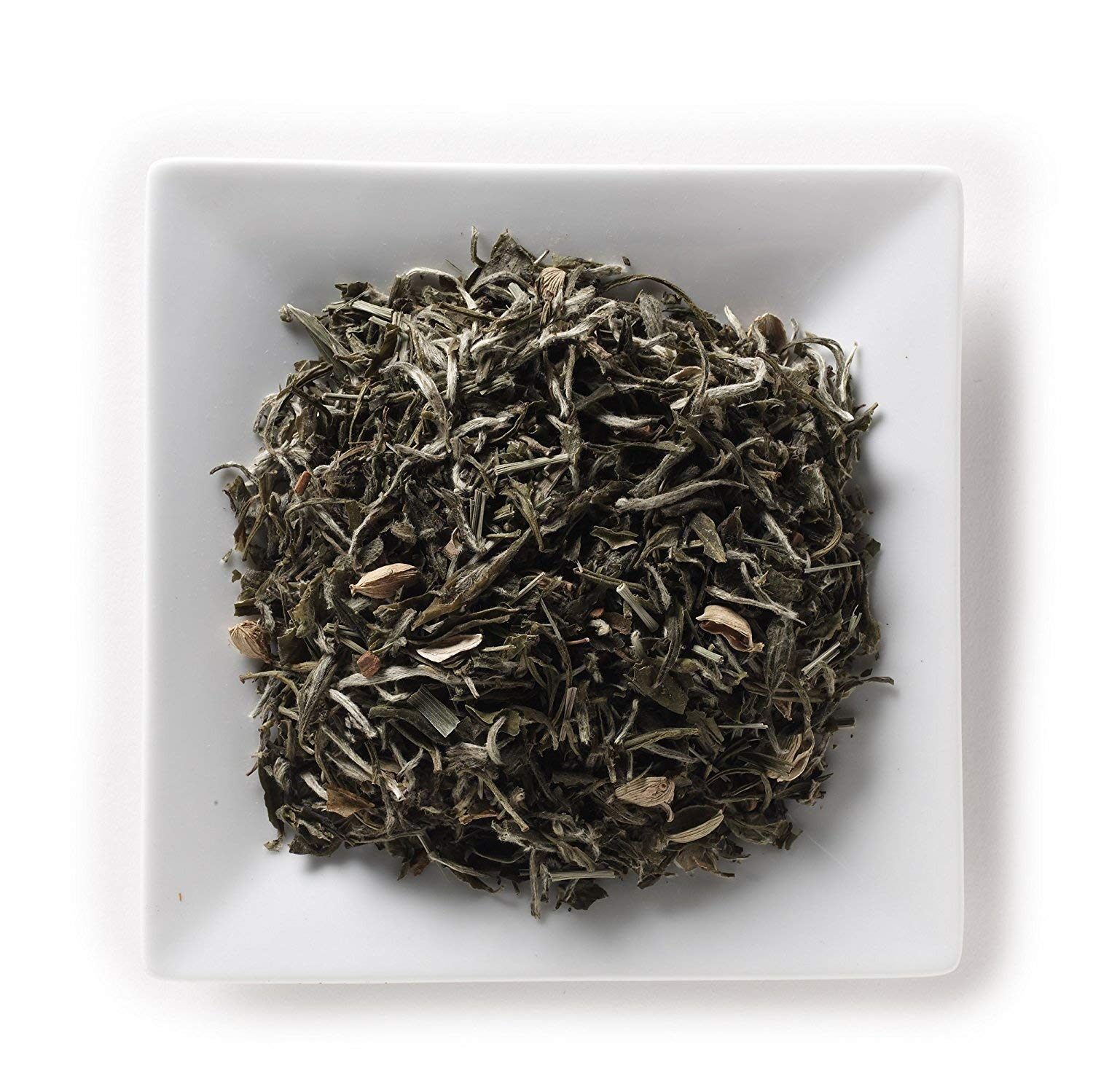 Mahamosa Chai White Tea (Pai Mu Tan) 2 oz, Loose Leaf (Loose-Leaf) White Tea Blend (bai mudan tea, bai mu dan tea) (with lemongrass, cardamom, cinnamon, ginger flavor)