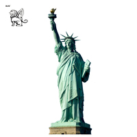 western fiberglass New York famous female characters sculpture large size resin statue of liberty RSD-071