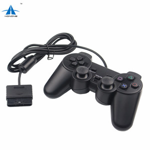 Black Wired Controller For PS2 Dual Vibration Joystick Gamepad For Playstation 2 Controller PS2 Dual Shock Gamepad Controller