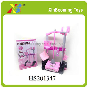 Pink Colour Plastic Kid House Cleaning Play Set, Girl Toys