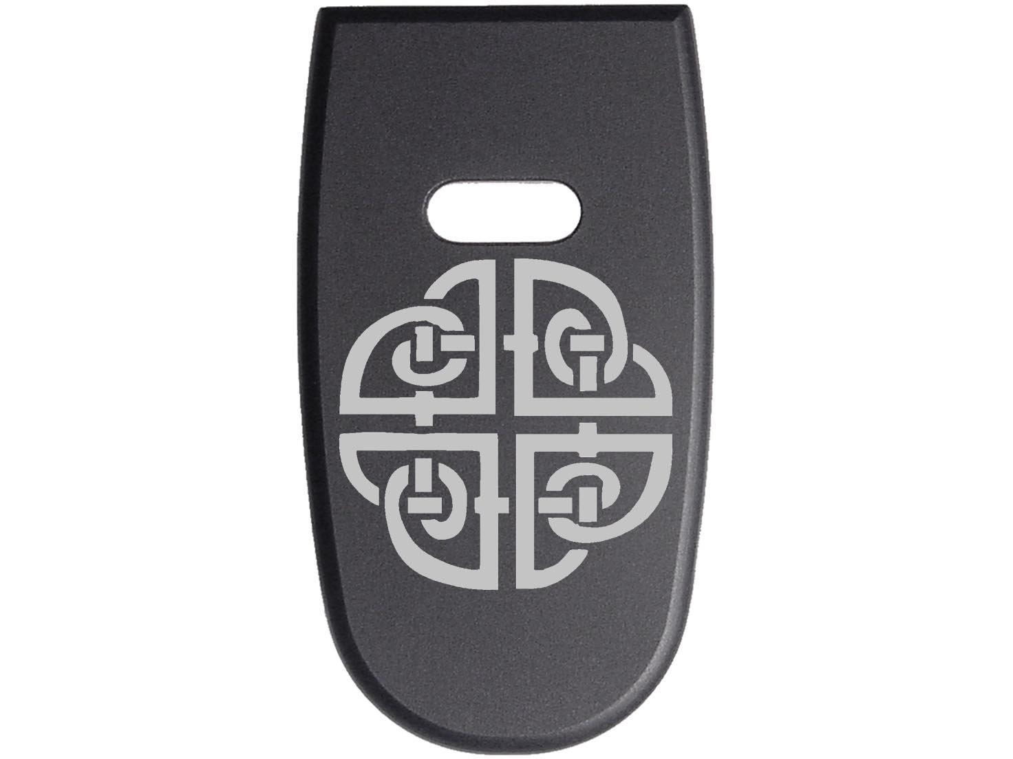 for S&W M&P Shield .45 Aluminum Floor Base Plate Black Custom Laser Engraved: Celtic Shield By NDZ Performance