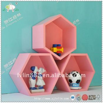 Hexagon Cube Shelf,Wooden Wall Shelf,Mdf Cube Shelf,Display Cabinets ...