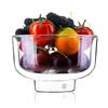 Haonai double wall fruit bowls,glass ice cream bowl,borosilicate glass bowls.