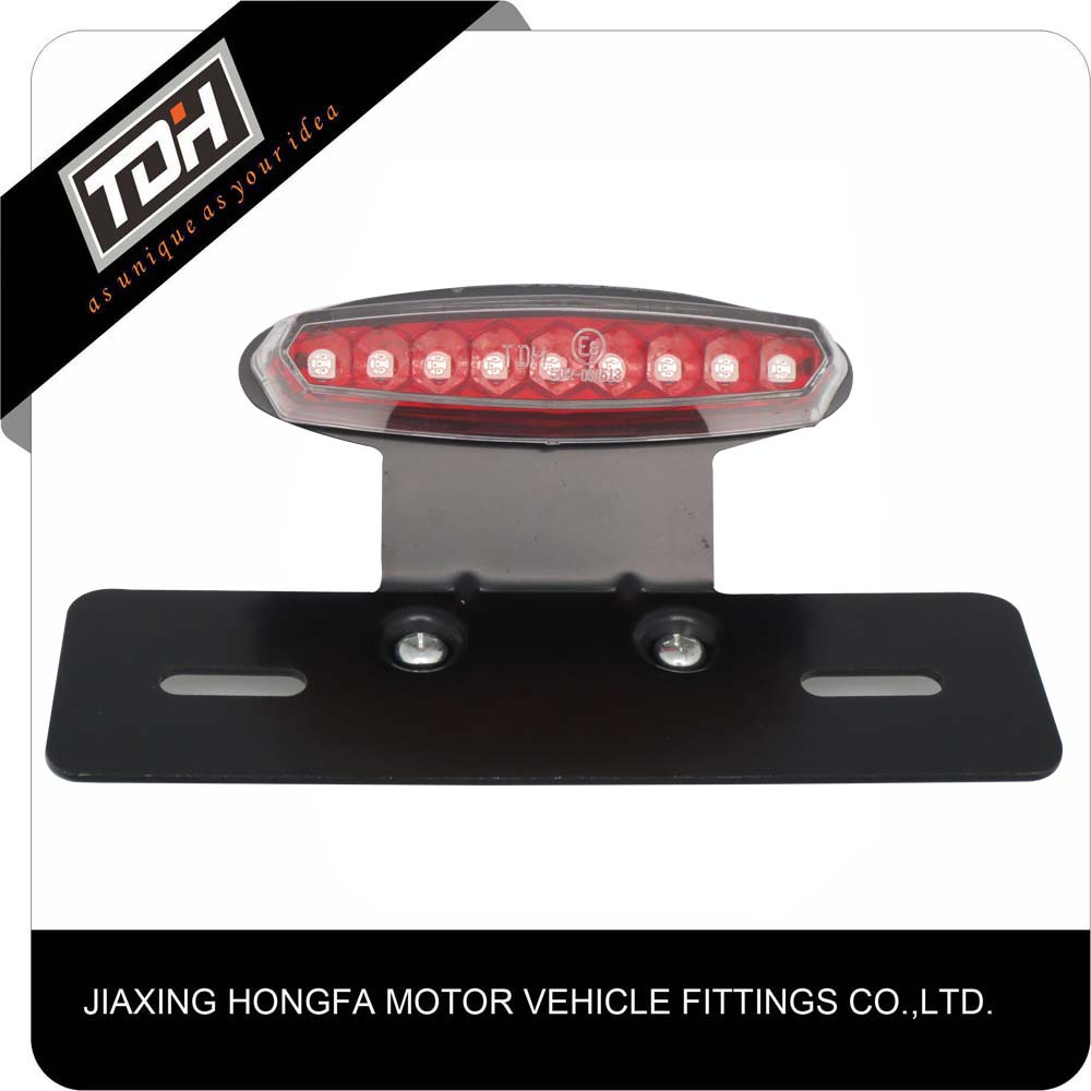Clear Lens Red Light Motorcycle Brake Tail Light Lamp