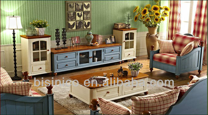Nice Bisini Living Room Set,English Country American Style Living Room Furniture  Set Sofa,Coffee Table,Tv Cabinet,Wine Cabinet   Buy American Style Living  Room ... Part 32