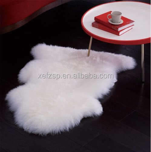 Rubber back rug long hair sheepskin rug