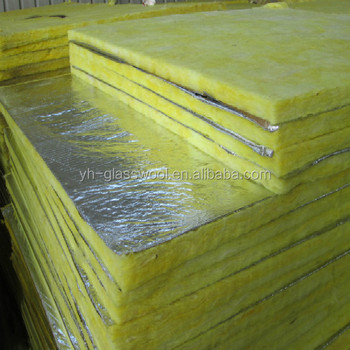 Semi rigid glass wool board for building and industry for Glass fiber board insulation