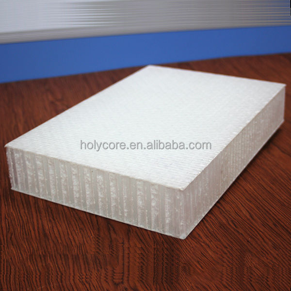 light and strong customized fiberglass pp honeycomb sandwich panel for trailers