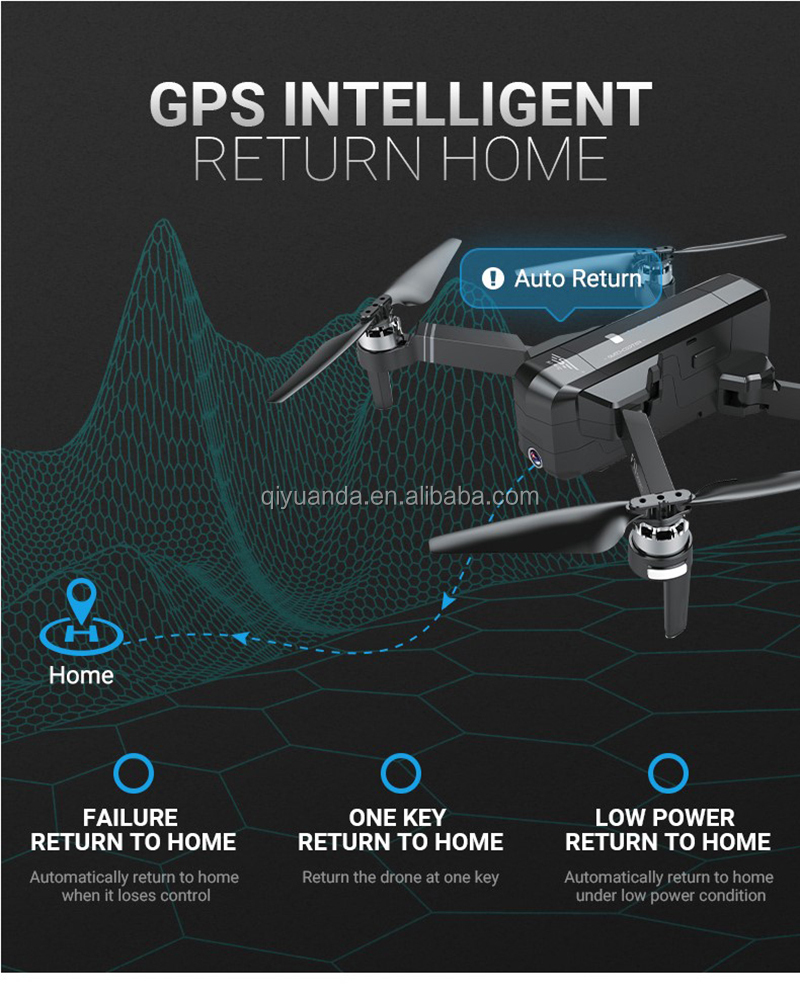 F11 Professionele GPS Follow me Quadcopter Drone met Borstelloze motor en 1080 p 5g WIFI FPV HD Camera