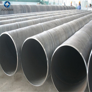 Factory direct sales steel piles spiral welded pipe used for gas and oil from China junnan steel