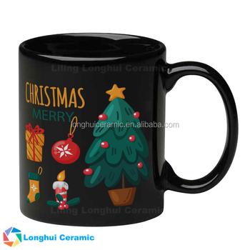 Black Ceramic Coffee Mugs Christmas