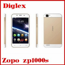 New Original Zopo zp1000s Mtk6582 quad core 1.3ghz Dual sim 8MP Android 4.4 3G Wcdma google play mobile Phone 1GB+32GB