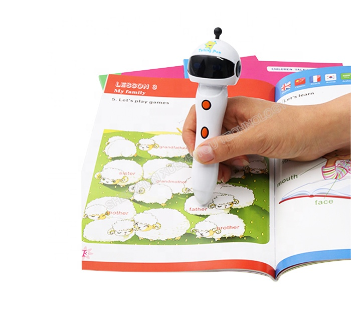 Preschool Kids <strong>Talking</strong> <strong>Pen</strong> Book 8GB Memory ABS Plastic Read <strong>Pen</strong> for Baby Audio Book Smart <strong>Talking</strong> <strong>Pen</strong>