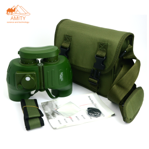 7X50 high quality adjustable military waterproof Binocular with compass