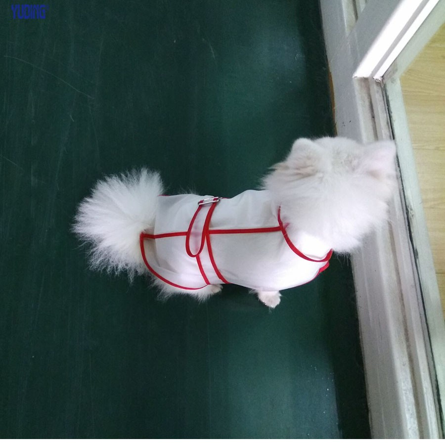 Pets Adjustable Dog Raincoat Transparent Plastic Raincoat Light Clothes Waterproof Puppy Raincoat