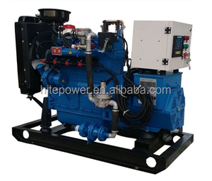 AC single phase output small size 12KVA biogas engine permanent magnet alternator genset